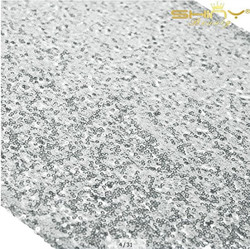 12x72-Inch Silver Sequin Table Runner Sparkly Metallic Silver Sequin Runner Event Bridal Wedding Runner Birthday Party Dinner Party Additional Colors Available Shower Ready to Ship