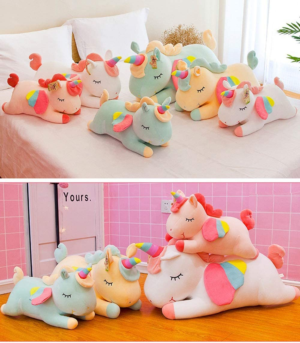 15.74in//40cm Boosns Unicorn Plush Toy Rainbow Pony Stuffed Animal Toy Soft and Super Elastic Creative Doll Best Gift for Friends Pink Relatives and Children