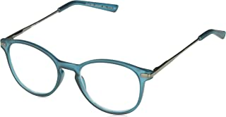 Unisex-Adult Foster Grant McKay Teal Multifocus Glasses 5010370-275.COM Round Reading Glasses, Rubberized Dark Teal with Gunmetal Temples, 2.75