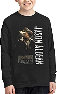 Jason Aldean Youth T-Shirt Teenager for Girls Boys Long Sleeve Cotton Graphic Tee