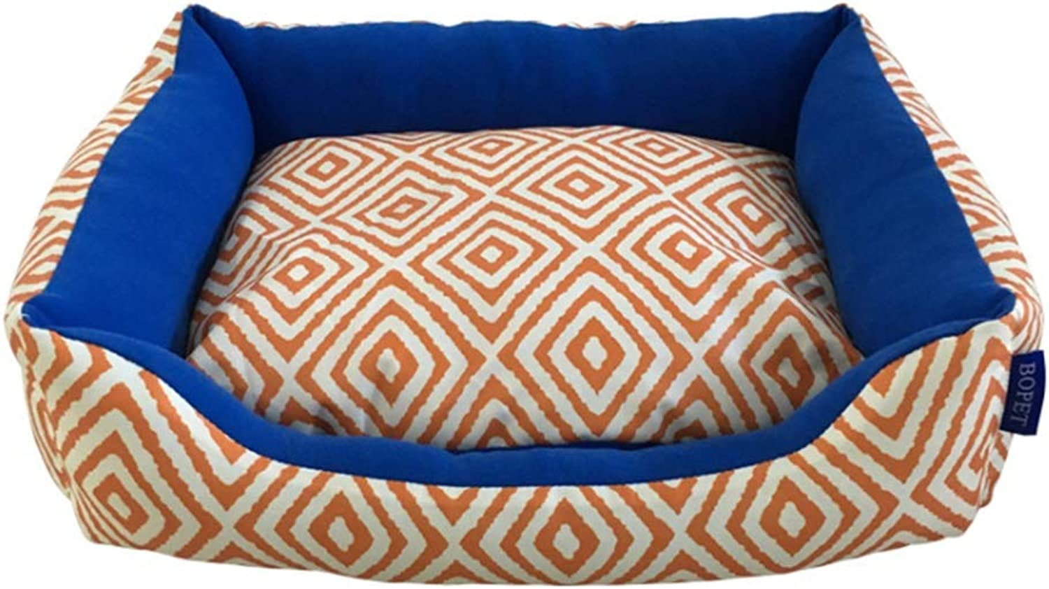 Cvthfyky Spring And Summer Dog Kennel Cat Litter Waterproof Printing Pet Nest Pad Removable And Washable Pet Supplies (color   orange, Size   S)