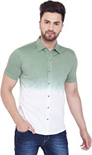 GRITSTONES Cotton Tie & Dye Half Sleeve Shirt for Men -GSOMBHSSHRT2549_P