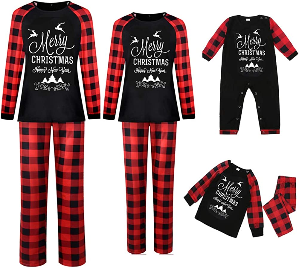 Matching Family Excellence Christmas Pajamas Recommended Sets Let Santa's Plaid Car Red