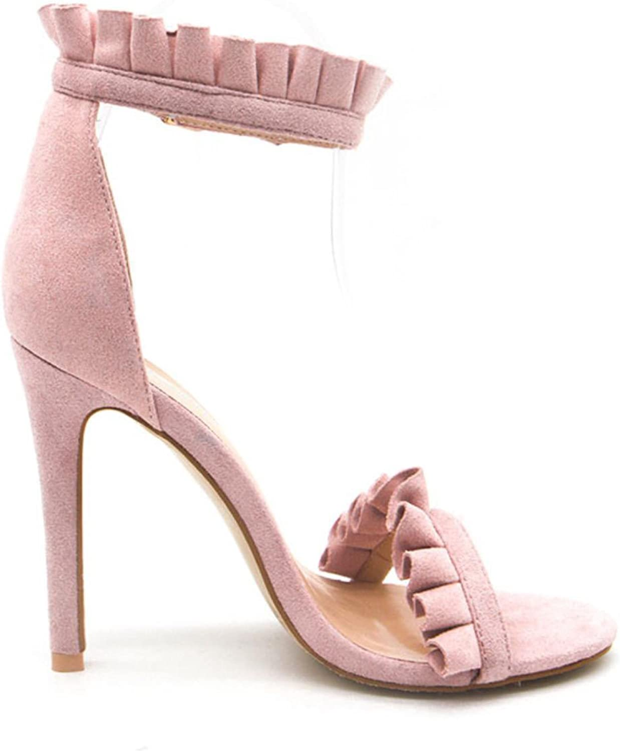 Buckle Ankle Strap High Heels Fashion Summer Sandals Party shoes Wedding Thin Pumps