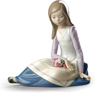 Lladro Contemplative Young Girl Figurine
