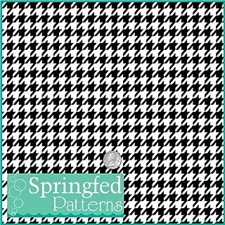 HOUNDSTOOTH PATTERN #1 Black & White Craft Vinyl 12
