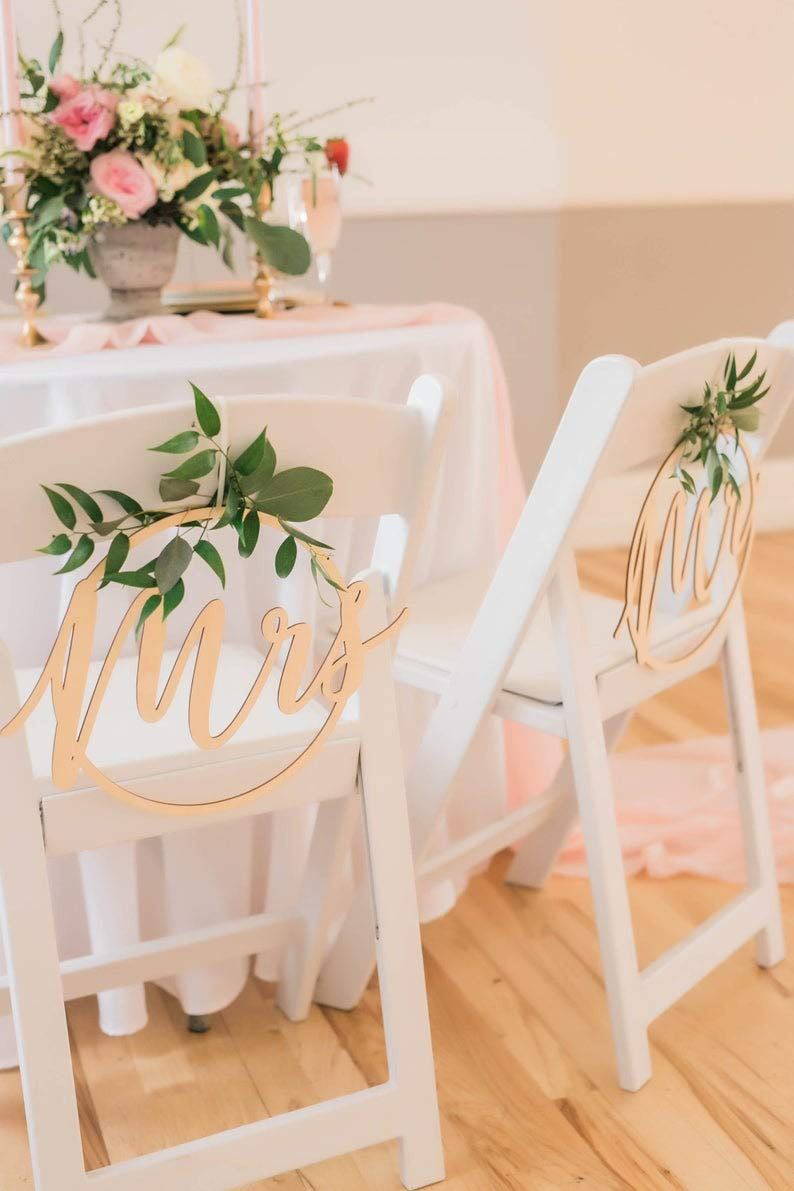 Wedding Signs - 100% quality warranty Save money Mr and Mrs Chair Ci