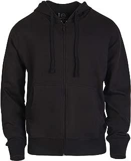 ET TU Men's Cotton Blend Lightweight Fleece Zip Up Hoodie Sweatshirt