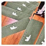 JQAM Pedata per Scale in Moquette Luminosa, Confezione da 2, tappetini Antiscivolo per Moquette, Tappeto di Sicurezza Antiscivolo per Interni per Bambini, Anziani e Animali Domestici, Verde