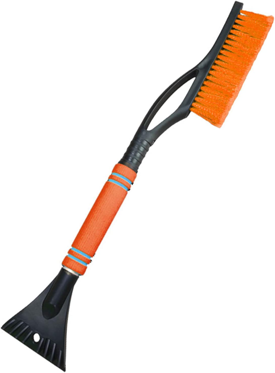 Snow Brush 2in1 Ice Scraper Removable Snow Brush with Ergonomic Foam Handle for Universal Cars Orange Elibeauty Snow Brush Ice Scraper