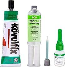 Onze bestseller: Lijm-assortiment met Top Pox 25g epoxy - Kövulfix 120g schoenlijm - Top secondelijm medium universeel