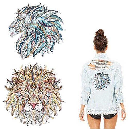 Patches voor kleding, 2 stks Handgemaakte DIY Grappige Transfer Stickers, Verschillende dierlijke stijlen Patches 3D Decoratie Patches sticker voor T-shirt Jeans Kleding Tassen