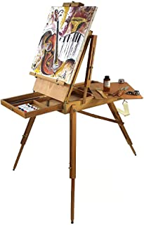 Artist Quality French Easel, Hardwood, Includes 16 x 20 Canvas Special Gift Edition