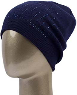 95fd82b6c65 Women S Cashmere Rhinestone Beanie Hat Winter Casual Knit Casual