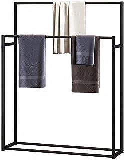 Porte-serviettes pour salle de bain autonome, 2 niveaux en métal, résistant à la rouille, facile à assembler, pour chambre...
