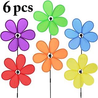B bangcool Wind Spinners Sunflower Lawn Pinwheels Windmill Party Pinwheel Wind Spinner for Patio Lawn & Garden (Pattern 1)