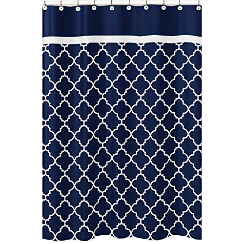 Sweet Jojo Designs Navy Blue and White Modern Bathroom...