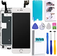 Screen Replacement Compatible iPhone 6s White 4.7(inch) LCD Display Touch Digitizer Assembly Repair Kit & Home Button,Ear Speaker, Front Camera,Proximity Sensor, Repair Tools