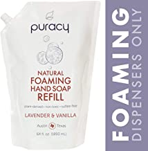 Puracy Natural Foaming Hand Soap Refill, Lavender & Vanilla, Sulfate-Free Hand Wash, 64 Ounce