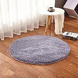 Liyingkeji alfombras redondas para niños alfombras para niños juegos infantiles sala de estar súper suave home shaggy carpet 80x80 cm (gris)