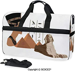 Travel Duffel Bag Symbols of Egypt Pyramid Landmark Personalized choice