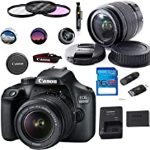 Canon EOS 4000D / T100 Digital Camera with EF-S 18-55MM F/3.5-5.6 III Lens + Basic Accessories Bundle