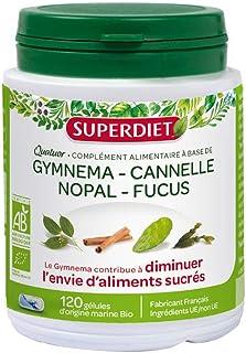 Super Diet Quatuor Organic Gymnema Cinnamon Nopal Fucus 120 Capsules