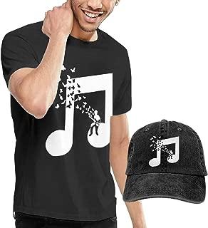 I Play Bass Guitar Music Note Butterflies Musician Adult Mens Sportstyle T-Shirt and Running Jean Hat