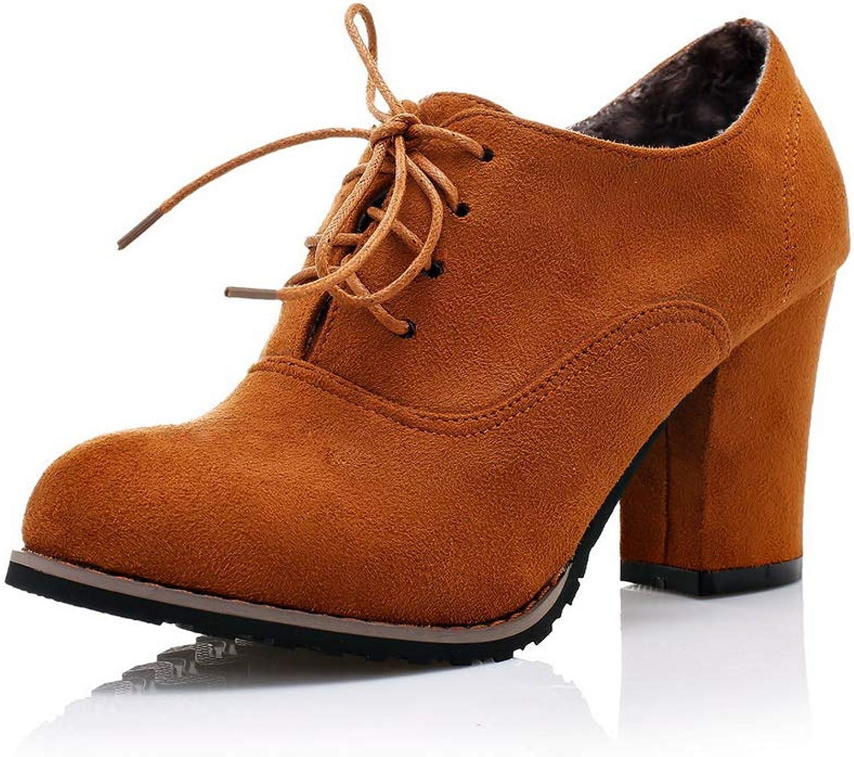 AdeeSu Womens Nubuck Solid Bungee Urethane Pumps shoes SDC05587