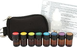 Essential Oil Pocket Doctor 1 Keychain Kit w/Frankincense, Oregano, Melaleuca, Lemon, Lavender, Peppermint, Eucalyptus & Lemongrass in (8) 2ml Drams by Davina