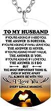 FAYERXL Gift to My Husband Boyfriend Fiance Man from Wife Girlfriend Dog Tag Necklace Love Jewelry