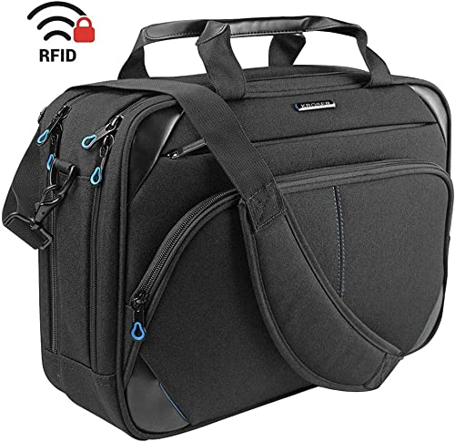 KROSER Laptop Bag 15.6 Inch Laptop Briefcase Laptop Messenger Bag Water Repellent Computer Case Laptop Shoulder Bag D...