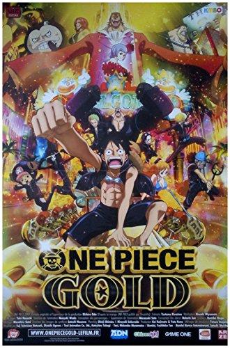 Affiche du Film One Piece Gold Kino-Poster klein (60 x 40 cm gefaltet) Hiroako Miyamoto