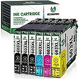 📦【El paquete contiene 】 6-pack (3x 603xl negro, 1x 603xl cian, 1x 603xl magenta, 1x 603xl amarillo) + 1 ✖ guía de instalación. Este no es un producto OEM.