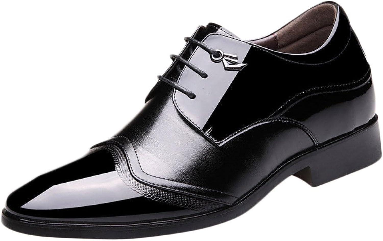 YXLONG New England Men's Business Dress shoes Invisible Increase 8CM Men's shoes Fashion Lace Single shoes
