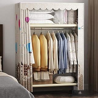 HWG Armoires en toile Armoire en tissu Tissu non tissé, rapide et facile à assembler avec rail suspendu utilisé dans le sa...