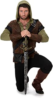 Karnival Costumes Disfraz para Adultos de la película «Robin Hood: príncipe de los Ladrones», de Estilo Medieval y Adecuado para el Día del Libro