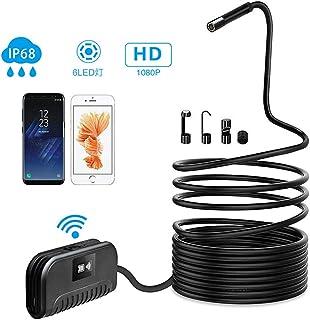 - Mod/èle: F99 Endoscope Cam/éra dinspection WiFi sans Fil Cam/éra Endoscopique 1200P HD 2.0 MP avec 6 LED 1M//1.5M//2M//3.5M//5M//10M Ip68 Etanche Endoscope pour Android iOS iPhone Smartphone Ipad