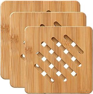 Am /_als/_ Platzdeckchen Kochen Hitzebeständig Holz Topf Matte Halter Schale Tass