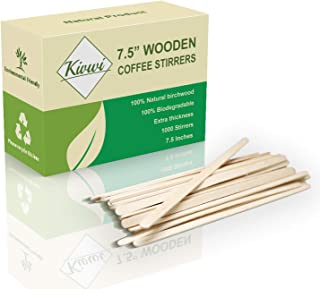 Coffee Stirrers Sticks, Natural Birch Wood 1000 Count, 7.5