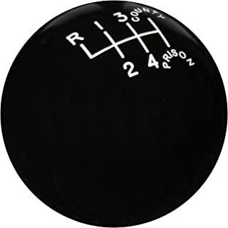 Speed Dawg SK501-CPW-6RUL Traditional Series Black County Prison 6-Speed Shift Knob (Reverse Upper Left)