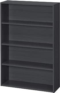 【BLKP】 パール金属 本棚 4段 限定 ブラック 幅60 × 奥行20 × 高さ89cm マンガ 文庫本 収納 ラック BLKP 黒 N-7575