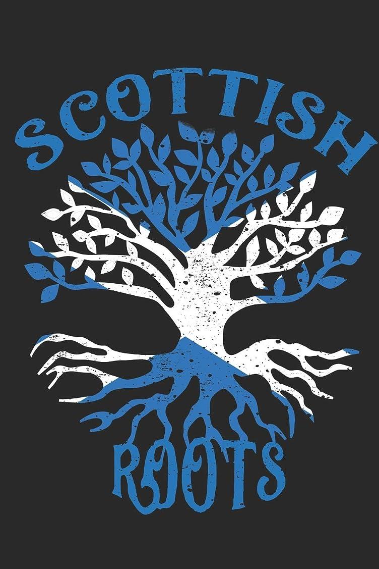 人物クレデンシャル強大なScottish Roots Notebook Journal: 120 Blank Lined Pages Softcover Notes Journal, College Ruled Composition Notebook, 6x9 Tree with Flag of Scotland Design Cover (Funny Gifts For a Friend)