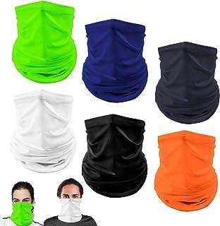 6-Pack Headband Bandana for Men Women, Vetoo Loop Face Scarf Tube Balaclavas, Ideal for Hip-Hop Cycling Handkerchief Necke...