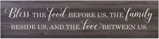 """LifeSong Milestones Bless The Food Before Us Family Wooden Sign for Living Room, entryway, Kitchen, or Bedroom Housewarming Wall Decor Gift 10"""" x 40"""" (Bless The Food)"""