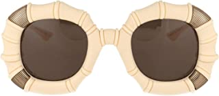Luxury Fashion | Gucci Womens GG0619S002 Beige Sunglasses | Fall Winter 19