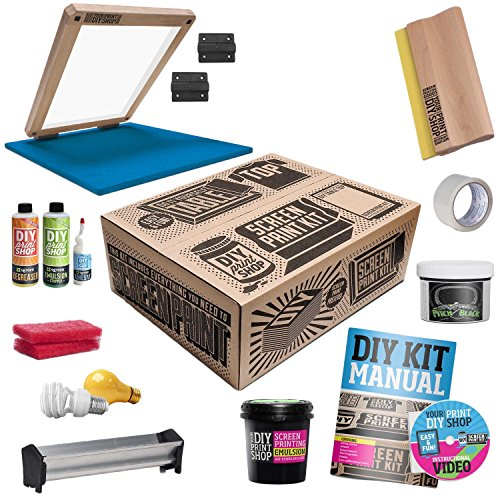 1. DIY PRINT SHOP Classic Table Top Screen Printing Kit