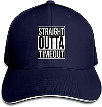Adult Straight Outta Timeout Cotton Lightweight Adjustable Peaked Baseball Cap Sandwich Hat Men Women