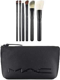 Mac M·a·c Look in a Box Brush Kit Basic 6 Pc + Neoprene Cosmetics Bag