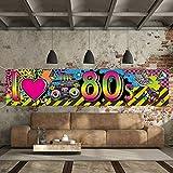 80s Party Dekorationen I Love 80s Banner, 1980er Jahre Hip Hop Zeichen Hintergrund Foto Stand Geburtstag Party Zubehör, 70,8 x 15,7 Zoll - 7